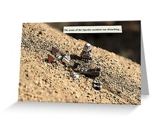 Speeder Accident Greeting Card