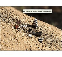 Speeder Accident Photographic Print