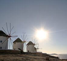 Windmills of Mykonos by kateabell