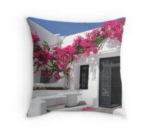 Mykonos colors Throw Pillow