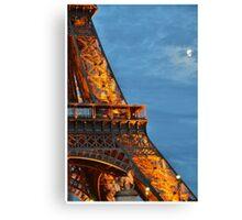 Eiffel Tower blue light Canvas Print