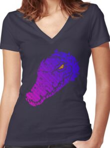 INNER ANIMAL - Gradient Version with an aluring eye Women's Fitted V-Neck T-Shirt