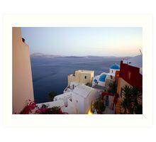 Santorini Sights Art Print