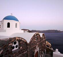 Santorini landscape by kateabell