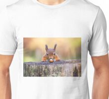 This red squirrel can't believe it's luck Unisex T-Shirt