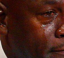 Michael Jordan Crying  Sticker