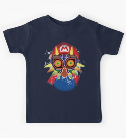 Mario wearing Majora's Mask Kids Tee