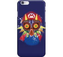 Mario wearing Majora's Mask iPhone Case/Skin