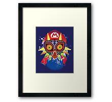 Mario wearing Majora's Mask Framed Print