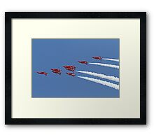 The Red Arrows fly upside down at Airbourne in Eastbourne Framed Print