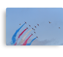 The red arrows display at Air Bourne in Eastbourne Canvas Print