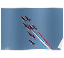 The Red arrows display at Air Bourne Eastbourne Poster