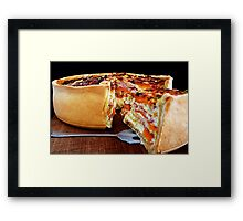 Sweet Potato & Bacon Pie Framed Print
