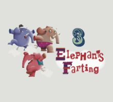 3 Elephants Farting by shanemcg