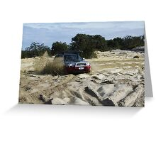 Subaru Forester with rooster tails Greeting Card