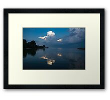 Cool Blue and White Framed Print