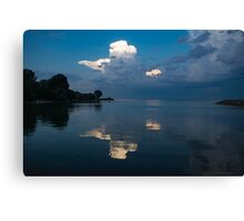 Cool Blue and White Canvas Print