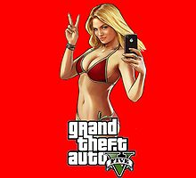 Grand Theft Auto 5 Babe case Red by Bergmandesign