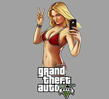 Grand Theft Auto 5 Babe case Grey by Bergmandesign