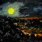brisbane full moon..june 23rd..2 by glennbrady