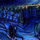 cold blue street by glennbrady