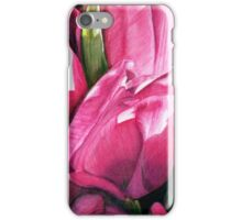 Pink Tulips in Coloured Pencil iPhone Case/Skin