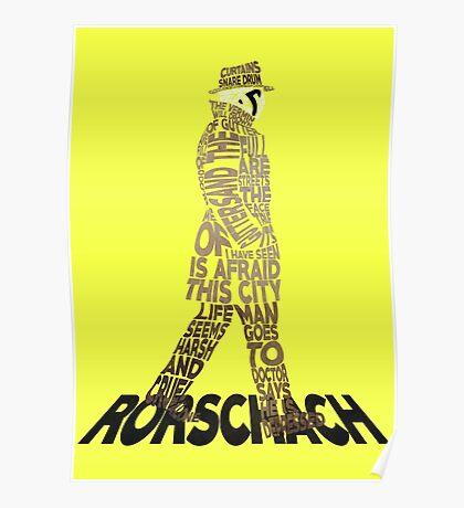 Watchmen - Rorschach Typography Poster