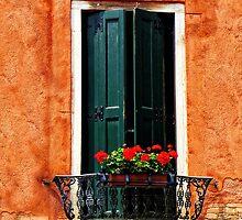 Venice Balcony by David J Baster
