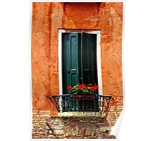 Venice Balcony Poster