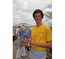 A programme seller at Airbourne in Eastbourne Photographic Print