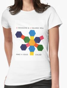 hexagons and squares Womens Fitted T-Shirt