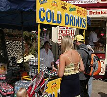 Cold drinks for sale in Eastbourne by Keith Larby