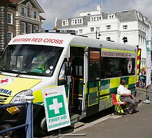 A Red Cross Ambulance ready for duty in Eastbourne by Keith Larby