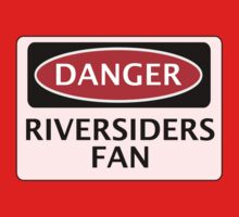 DANGER BLACKBURN ROVERS, RIVERSIDERS FAN, FOOTBALL FUNNY FAKE SAFETY SIGN Kids Clothes