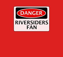 DANGER BLACKBURN ROVERS, RIVERSIDERS FAN, FOOTBALL FUNNY FAKE SAFETY SIGN Unisex T-Shirt