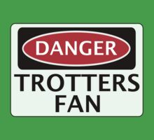 DANGER BOLTON WANDERERS, TROTTERS FAN, FOOTBALL FUNNY FAKE SAFETY SIGN Kids Tee