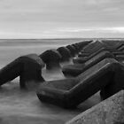 Irish sea water breakers by Paul Madden