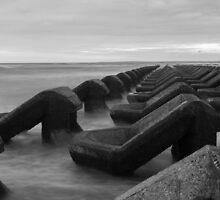 Irish sea water breakers by Paul Madden