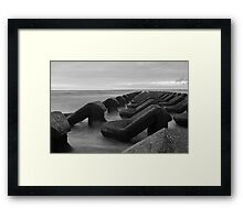 Irish sea water breakers Framed Print