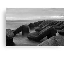 Irish sea water breakers Canvas Print