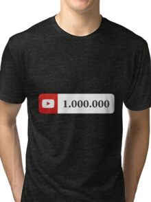 YouTube 1 Million Subscribers Tri-blend T-Shirt