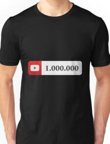 YouTube 1 Million Subscribers Unisex T-Shirt