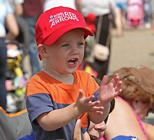 A young red arrows fan in Eastbourne by Keith Larby