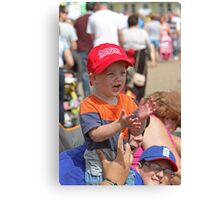 A young red arrows fan in Eastbourne Canvas Print