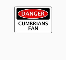 DANGER CARLISLE UNITED, CUMBRIANS FAN, FOOTBALL FUNNY FAKE SAFETY SIGN Womens Fitted T-Shirt