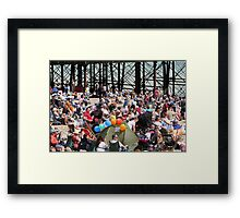 Crowds on the beach at Airbourne in Eastbourne Framed Print