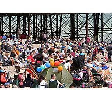 Crowds on the beach at Airbourne in Eastbourne Photographic Print
