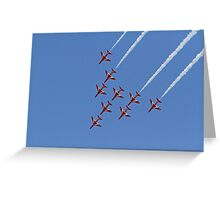 The Red Arrows fly at Airbourne in Eastbourne Greeting Card