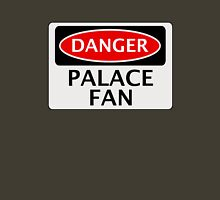 DANGER CRYSTAL PALACE, PALACE FAN, FOOTBALL FUNNY FAKE SAFETY SIGN Unisex T-Shirt