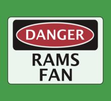 DANGER DERBY COUNTY, RAMS FAN, FOOTBALL FUNNY FAKE SAFETY SIGN Baby Tee